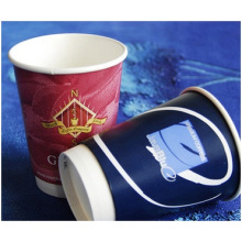12oz Double Disposable Vacuum Thickening Paper Cups, Hollow Drink Cup